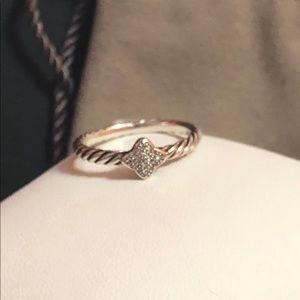 David Yurman Quatrefoil Diamond 925 Ring